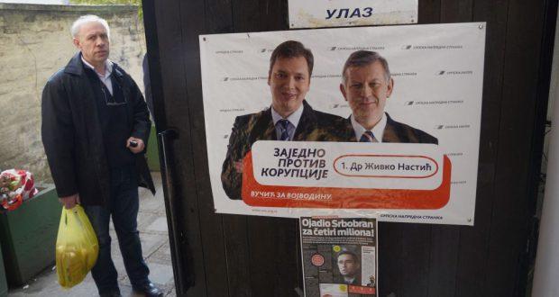 Dopunski lokalni izbori u Srbobranu. Na fotografiji SNS Srbobran